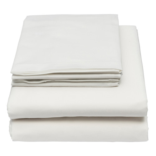 white percale bed linen