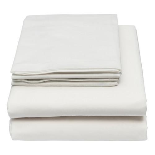white polycotton bed linen